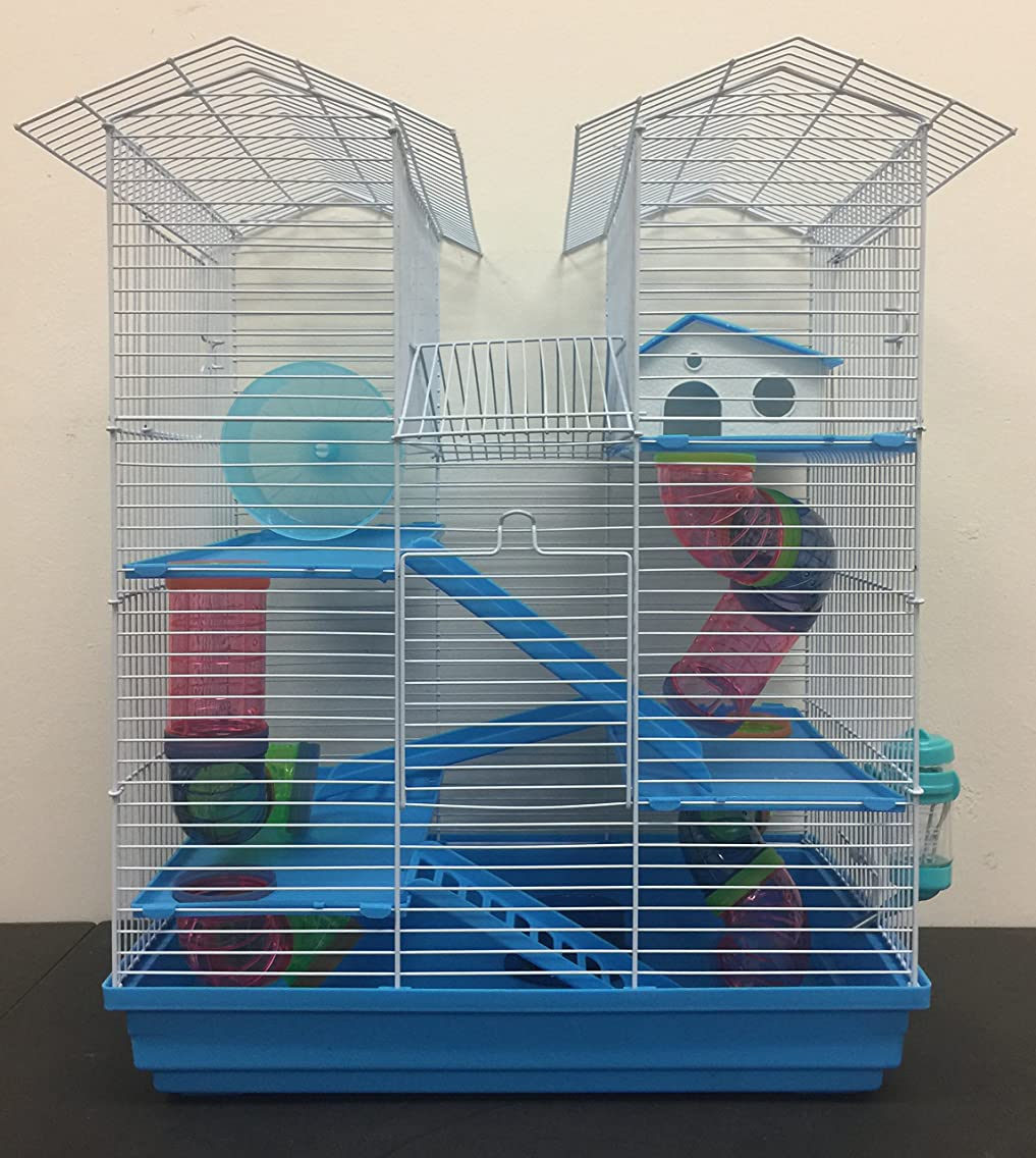 Large 5 Floor Twin Towner Habitat Syrian Hamster Rodent Gerbils Mouse Mice Rat Cage