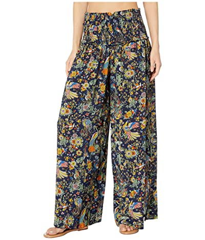 Tory Burch Swimwear Smocked Beach Pants Cover-Up (Tory Navy Promised Land) Women