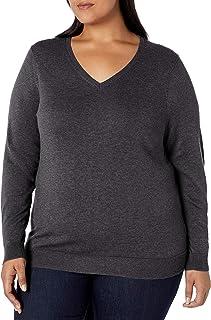Women's Plus Size Lightweight V-Neck Sweater