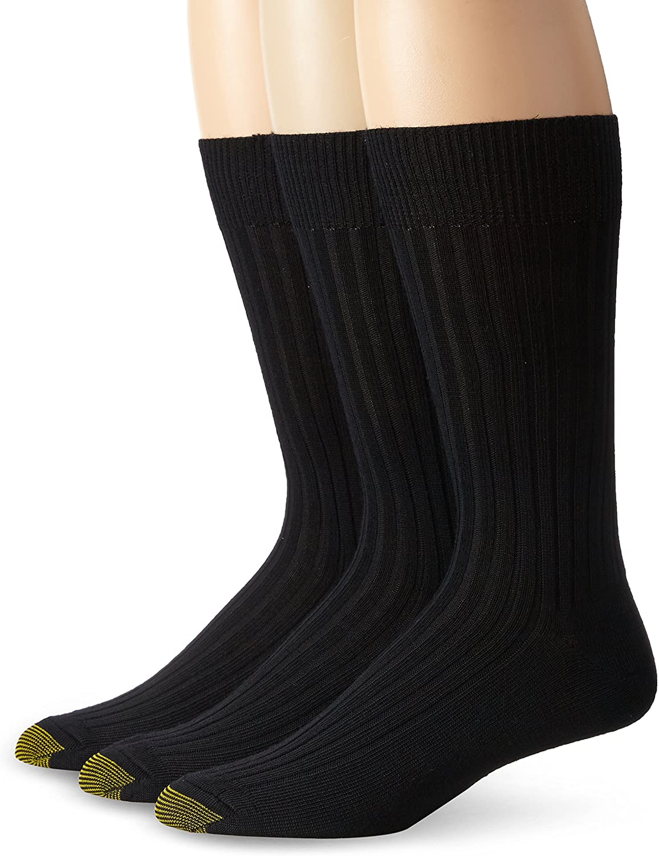 Gold Toe Men's Windsor Wool Dress Socks, 3-Pairs