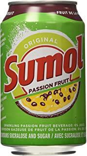 Sumol Passion Fruit Soda Portugal 11.15 Oz. Cans 6 Pack