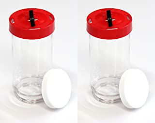 Replacement First Nature 16oz Plastic Bottle / Jar for Hummingbird Feeder #3051 (2)