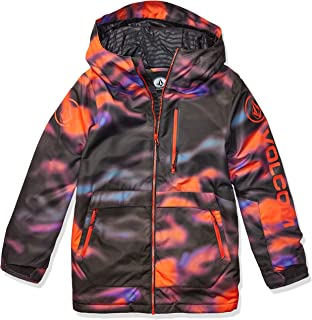Volcom Boys' Big Holbeck Insulated 2 Layer Shell Snow Jacket, Multi, Large