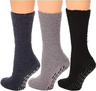 Non skid Hospital Socks For Women Men Cozy Fuzzy Socks 3 Pairs
