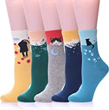 Women's Cute Funny Socks Colorful Novelty Casual Animal Crew Socks