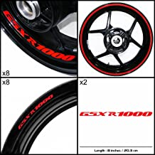 Stickman Vinyls Motorcycle Decal Reflective Red Graphic Kit For Suzuki GSXR 1000
