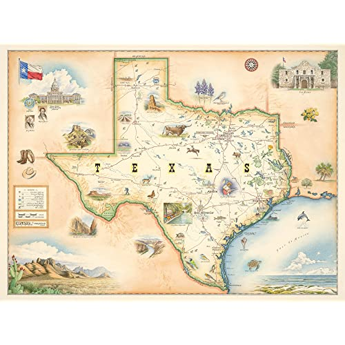 Map Of Texas With Cities And Towns.Map Of Texas Amazon Com