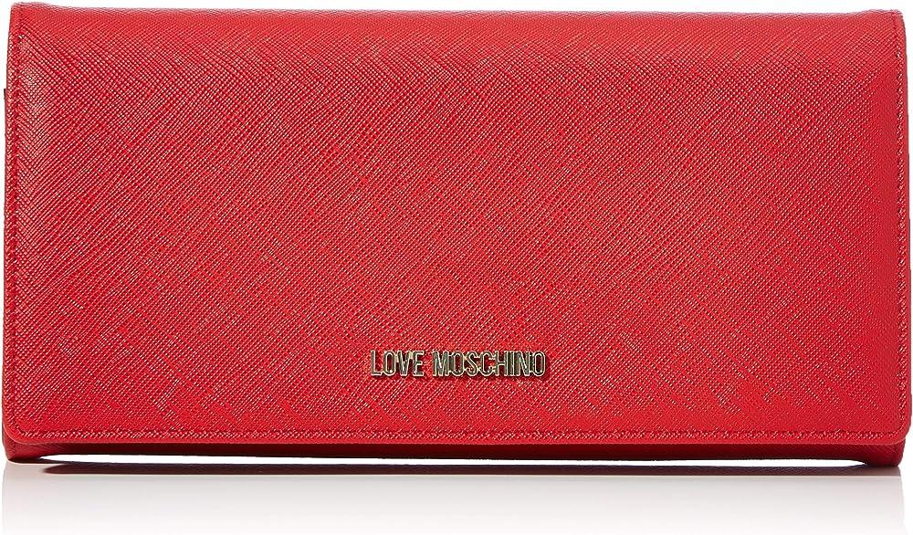 Love moschino, portafoglio da donna, porta carte di credito, in pelle sintetica JC5393PP08