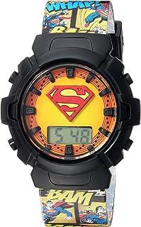 ساعة كوارتز للبنات من دي سي كومكس بسوار بلاستيكي، متعددة 19 موديل SUP4081