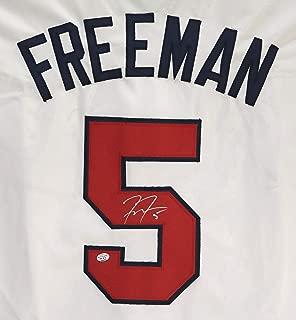 Freddie Freeman Atlanta Braves Signed Autographed White #5 Custom Jersey PAAS COA