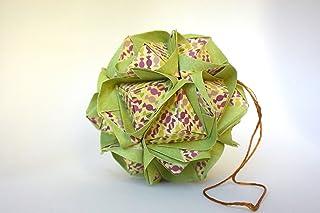 origami Clover Kusudama, 30 moduli verde chiaro con motivo di caramelle