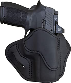 1791 GUNLEATHER Sig P320c Optic Ready Holster - OWB CCW Holster - Right Handed Leather Gun Holster for Belts - HK VP9sk, HK P2000, HK 45c, SIG P229c and Most compacts with Rails (BH2.4S-OR)