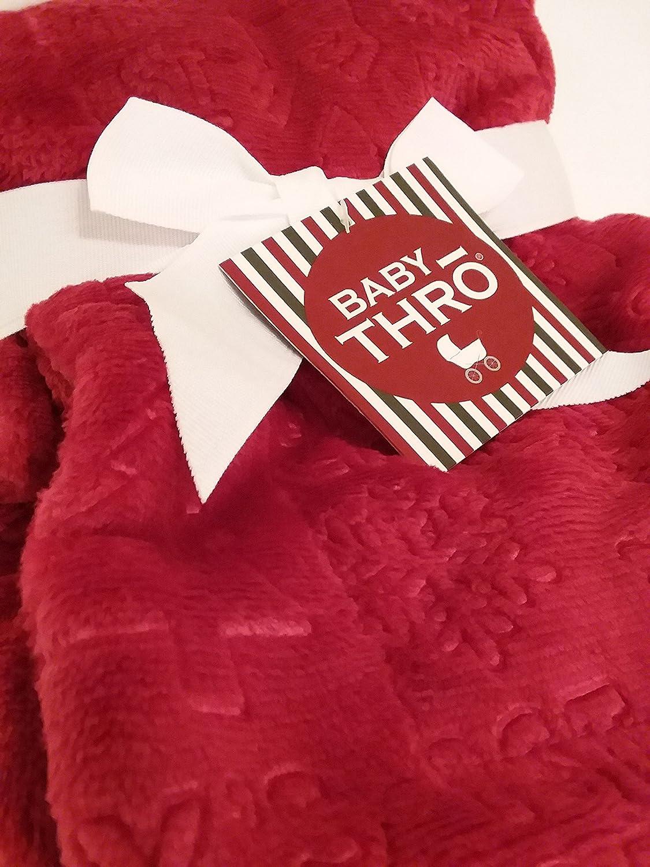 Thro Decorative Luxury Embossed Fleece Blanket for Baby's First