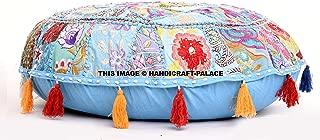 Round Floor Pillow Cover, Floor Cushion Bohemian Patchwork Floor Cushion Pouf Ottoman Vintage Indian Foot Stool Bean Bag Floor Pillow Pouf, Home Decor, Living Room Ottoman, Bohemain Pillow Cover