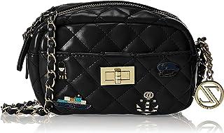 Zeneve London Womens Crossbody Bag, Black - 1191830491