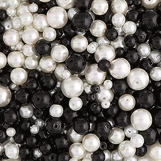 310 perline in vetro e perline Rondell in un bel mix di colori blu e bianco per la creazione di gioielli e artigianato Ocean Dream