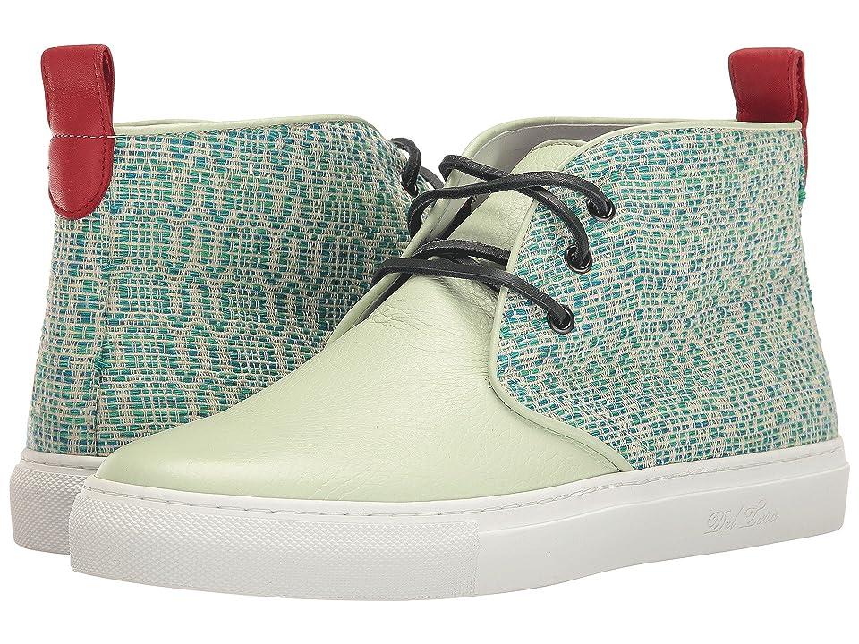 Del Toro High Top Textile/Leather Chukka Sneaker (Mint Green/White) Men