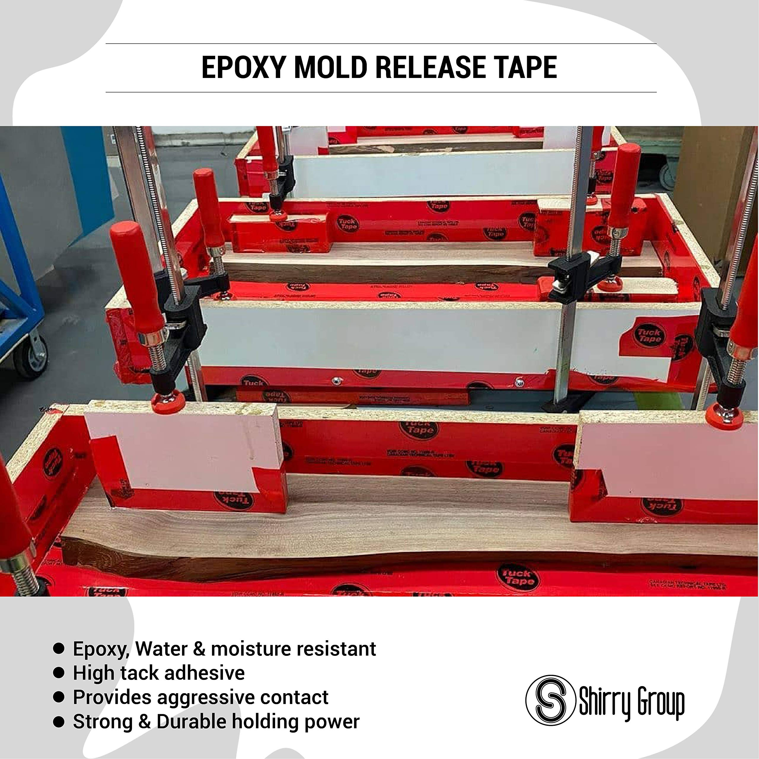 Tuck Tape Construction Sheathing Tape, Epoxy Resin Tape, 2.4 in x 216 ft (Red)
