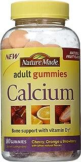 Nature Made Calcium Adult Gummies, 80 Count (Pack of 3)