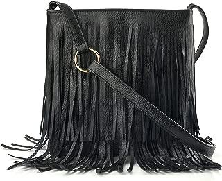 Glossy Fringe Cross Body Shoulder Bag Tassel Womens Purse