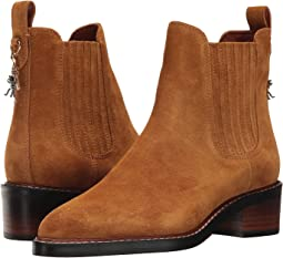 COACH Bowery Chelsea Boot,Camel Suede