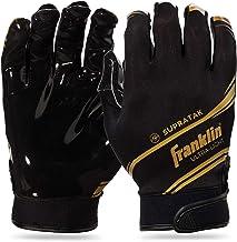 Franklin Sports Supratak Football Receiver Gloves - Black/Chrome - Adult Large