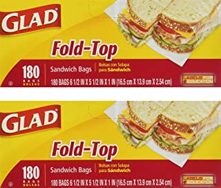 Glad Fold Top Sandwich Bags, Plastic Bags 360-Count