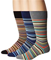 Paul Smith - 3-Pack Multistripe Socks