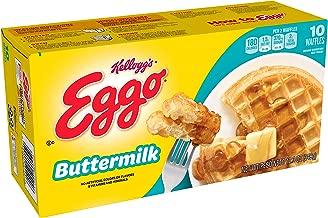 Kellogg's Eggo, Frozen Waffles, Buttemilk, Easy Breakfast, 12.3 oz Box (10 Count)