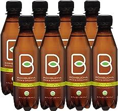 B-tea Kombucha Raw Organic Tea, Only 2g of Sugar, Probiotics & Prebiotic, Kosher, 8 oz, 8 Count (B-tea Lemon Balm Green Tea)