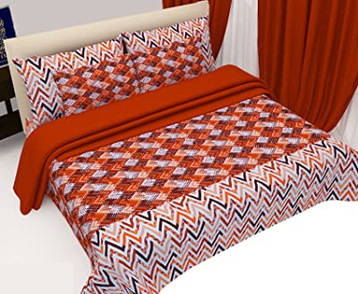 Indiweaves Premium 150 TC Cotton Bedsheet with 2 Pillow Covers-Floral-King Size_92100-06-IW-1