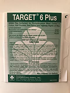 Target 6 Plus (MSMA) 48.2% Turf Herbicide - 5 gallons:1 case (2 x 2.5 Gallon jugs)