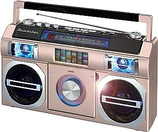 Studebaker SB2145RG 80's Retro Street Bluetooth Boombox with FM Radio, CD Player, LED EQ, 10 Watts RMS Power and AC/DC (Ro...