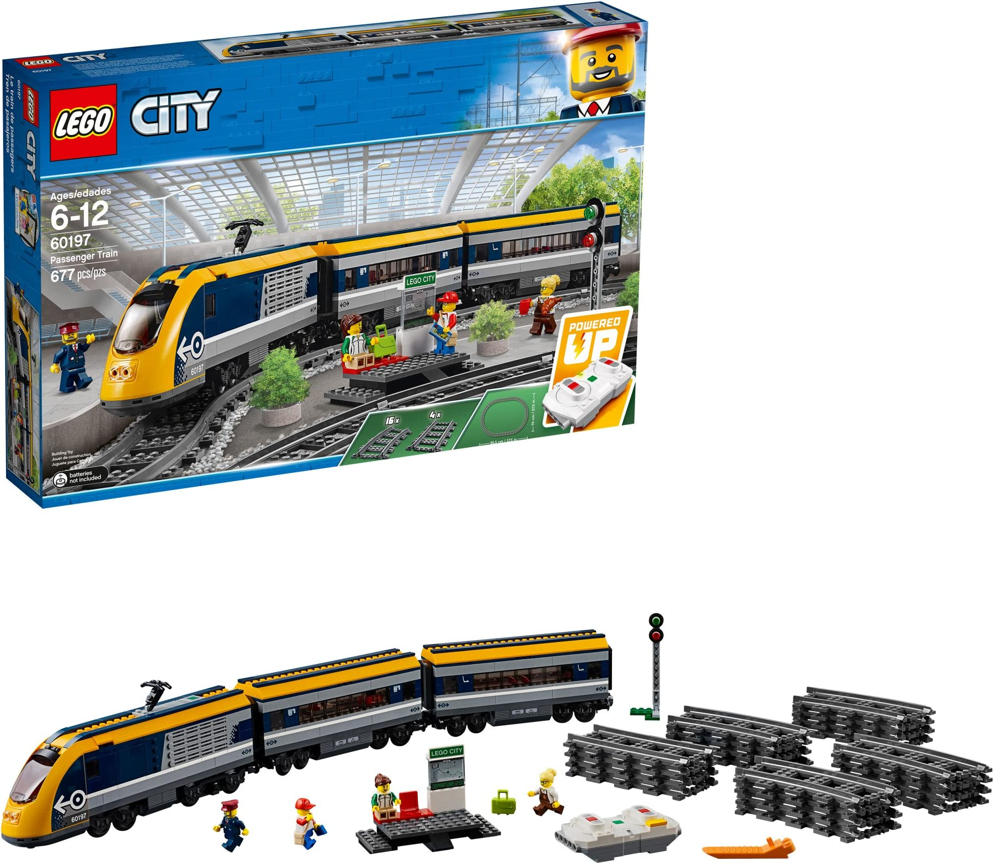 Lego City Droit Train Track Pièces x4 60198 60197 60205 7499 60052 Neuf 60051