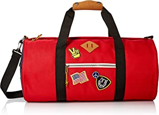 Steve Madden Men's overnighter/Duffle Bag, Red
