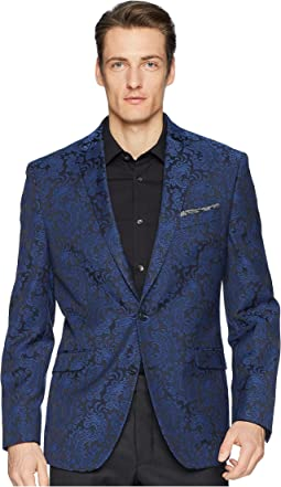 Blue Brocade Evening Jacket