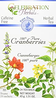 CELEBRATION HERBALS Cranberries Pure Quality 24, Count, Pack of 1