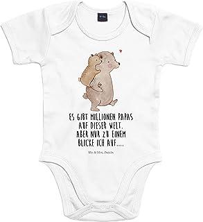 Mr. & Mrs. Panda Mr. & Mrs. Panda Baby, Babysuit, 3-6 Monate Baby Body Papa Bär mit Spruch - Farbe Transparent