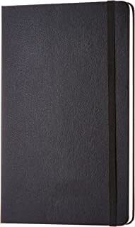 AmazonBasics Classic Notebook, Plain - (130mm x 210mm) - 240 pages (Black)