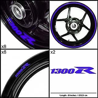 Stickman Vinyls Motorcycle Decal Reflective Blue Graphic Kit For Suzuki Hayabusa 1300R