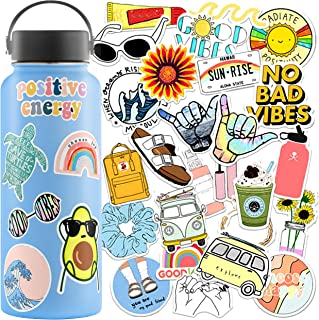 VSCO Stickers for Hydro Flask Stickers (35 Pack) - Waterproof VSCO Stickers for Hydroflask, Laptop Stickers - Aesthetic St...