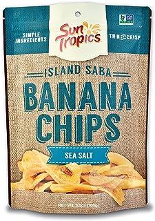 Sponsored Ad - Sun Tropics Island Saba Banana Chips, Sea Salt, 3.5 oz (6 Pack), Vegan, Gluten Free, Non Gmo, Made With Coc...