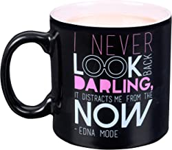 Disney Pixar Incredibles Edna Mode Ceramic Coffee Mug - I Never Look Back, Darling. It Distracts Me From The Now - 20 oz