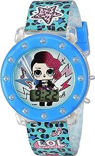 L.O.L. مفاجأة! ساعة كوارتز للبنات مع حزام بلاستيكي، أرجواني، 18.3 (الموديل: LOL4045)