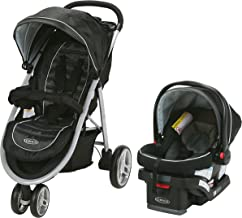 Graco Aire3 Travel System | Includes The Lightweight Aire3 Stroller and SnugRide SnugLock 30 Infant Car Seat, Gotham