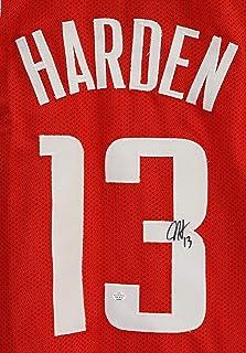 James Harden Houston Rockets Signed Autographed Red  13 Custom Jersey PAAS  COA 7115e5766