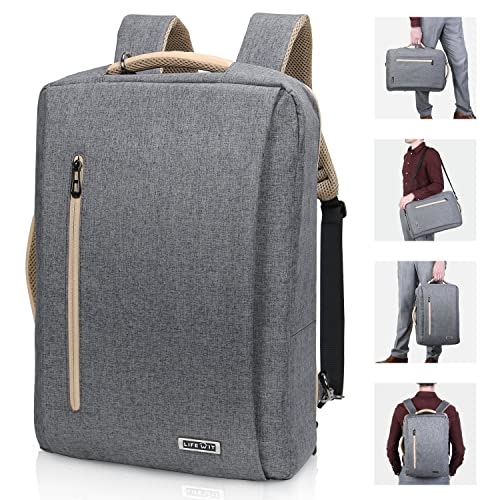 5b0b1fdab34 Lifewit 15.6   Convertible Laptop Backpack Briefcase with USB Charging Port  3 in 1 Multi