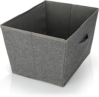 com-four® Boîte de Rangement - Boîte Pliable pour Rangement - Boîte Pliable avec poignée pour Armoire, vêtements, Livres, ...