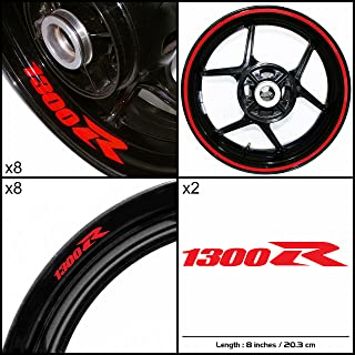Stickman Vinyls Motorcycle Decal Gloss Red Graphic Kit For Suzuki Hayabusa 1300R