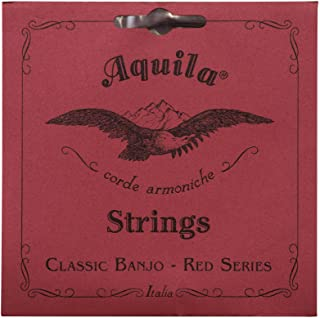 Aquila 红色系列 AQ-11B Banjo 琴弦 - 中等张力 DBGDG - 1 套 5 根